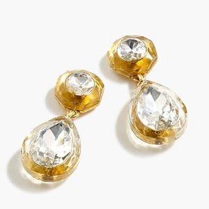 J.crew pear shaped stone drop earring